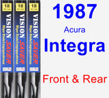 Front & Rear Wiper Blade Pack for 1987 Acura Integra - Vision Saver