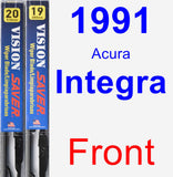 Front Wiper Blade Pack for 1991 Acura Integra - Vision Saver