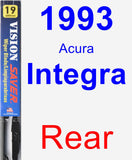 Rear Wiper Blade for 1993 Acura Integra - Vision Saver