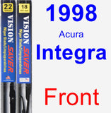 Front Wiper Blade Pack for 1998 Acura Integra - Vision Saver