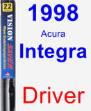 Driver Wiper Blade for 1998 Acura Integra - Vision Saver