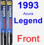 Front Wiper Blade Pack for 1993 Acura Legend - Vision Saver
