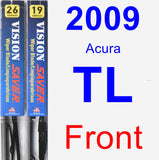 Front Wiper Blade Pack for 2009 Acura TL - Vision Saver
