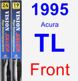 Front Wiper Blade Pack for 1995 Acura TL - Vision Saver