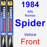 Front Wiper Blade Pack for 1984 Alfa Romeo Spider - Vision Saver