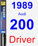 Driver Wiper Blade for 1989 Audi 200 - Vision Saver