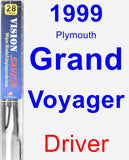 Driver Wiper Blade for 1999 Plymouth Grand Voyager - Vision Saver