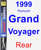 Rear Wiper Blade for 1999 Plymouth Grand Voyager - Vision Saver