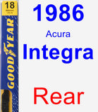 Rear Wiper Blade for 1986 Acura Integra - Premium