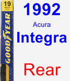 Rear Wiper Blade for 1992 Acura Integra - Premium