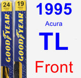 Front Wiper Blade Pack for 1995 Acura TL - Premium