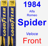 Front Wiper Blade Pack for 1984 Alfa Romeo Spider - Premium