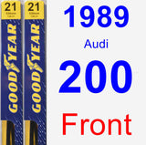 Front Wiper Blade Pack for 1989 Audi 200 - Premium