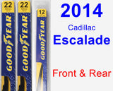 Front & Rear Wiper Blade Pack for 2014 Cadillac Escalade - Premium
