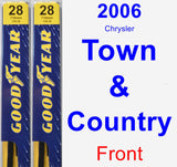 Front Wiper Blade Pack for 2006 Chrysler Town & Country - Premium
