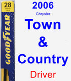 Driver Wiper Blade for 2006 Chrysler Town & Country - Premium