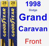 Front Wiper Blade Pack for 1998 Dodge Grand Caravan - Premium