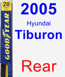 Rear Wiper Blade for 2005 Hyundai Tiburon - Premium