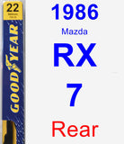 Rear Wiper Blade for 1986 Mazda RX-7 - Premium