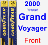 Front Wiper Blade Pack for 2000 Plymouth Grand Voyager - Premium