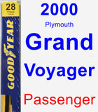 Passenger Wiper Blade for 2000 Plymouth Grand Voyager - Premium