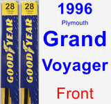 Front Wiper Blade Pack for 1996 Plymouth Grand Voyager - Premium