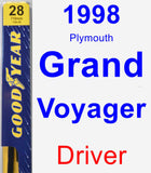 Driver Wiper Blade for 1998 Plymouth Grand Voyager - Premium