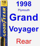 Rear Wiper Blade for 1998 Plymouth Grand Voyager - Premium