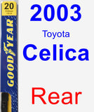 Rear Wiper Blade for 2003 Toyota Celica - Premium