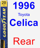 Rear Wiper Blade for 1996 Toyota Celica - Premium