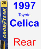 Rear Wiper Blade for 1997 Toyota Celica - Premium