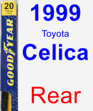 Rear Wiper Blade for 1999 Toyota Celica - Premium