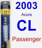 Passenger Wiper Blade for 2003 Acura CL - Assurance