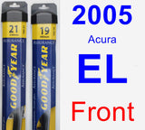 Front Wiper Blade Pack for 2005 Acura EL - Assurance