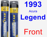 Front Wiper Blade Pack for 1993 Acura Legend - Assurance