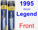 Front Wiper Blade Pack for 1995 Acura Legend - Assurance