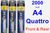 Front & Rear Wiper Blade Pack for 2000 Audi A4 Quattro - Assurance