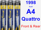 Front & Rear Wiper Blade Pack for 1998 Audi A4 Quattro - Assurance