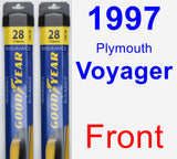 Front Wiper Blade Pack for 1997 Plymouth Voyager - Assurance