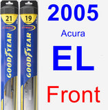 Front Wiper Blade Pack for 2005 Acura EL - Hybrid