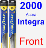 Front Wiper Blade Pack for 2000 Acura Integra - Hybrid