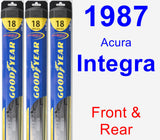 Front & Rear Wiper Blade Pack for 1987 Acura Integra - Hybrid