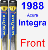 Front Wiper Blade Pack for 1988 Acura Integra - Hybrid