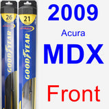Front Wiper Blade Pack for 2009 Acura MDX - Hybrid