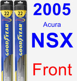 Front Wiper Blade Pack for 2005 Acura NSX - Hybrid