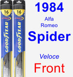 Front Wiper Blade Pack for 1984 Alfa Romeo Spider - Hybrid