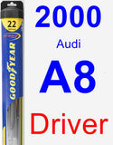 Driver Wiper Blade for 2000 Audi A8 - Hybrid