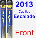 Front Wiper Blade Pack for 2013 Cadillac Escalade - Hybrid