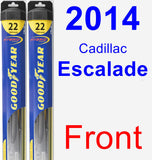 Front Wiper Blade Pack for 2014 Cadillac Escalade - Hybrid