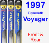 Front & Rear Wiper Blade Pack for 1997 Plymouth Voyager - Hybrid